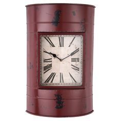 Plum & Post offers a wide selection of home accent, furniture, garden decor & more. Check out this Red Drum Clock and view more products from Plum & Post.