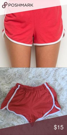 Brandy Melville red vintage shorts. Perfect. Perfect condition never worn Brandy Melville shorts. Very cute and comfy. Brandy Melville Shorts