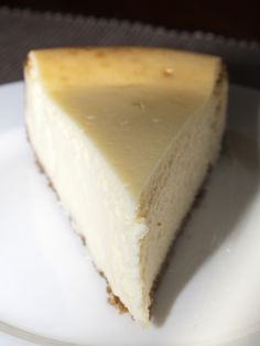America's Test Kitchen New York Cheesecake ~ lovely, moist, subtle-flavored, simple...