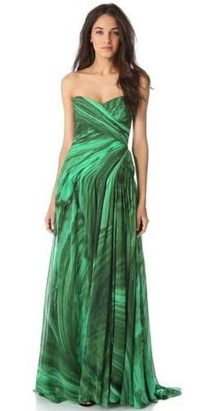 Monique Lhuillier Draped Strapless...