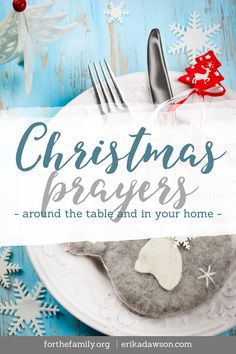 The one thing we want for Christmas? Invite him in to your family celebrations with these meaningful prayers for Christmas. Christmas Prayer For Family, Christmas Blessings, Christmas Traditions, Christmas Holidays, Xmas, Christmas Ideas, Christmas Quotes, Merry Christmas, Table Prayer