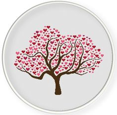 INSTANT DOWNLOAD,Free shippingCounted Cross stitch pattern,Cross-Stitch PDF,Love tree,valentine's day, zxxc0594