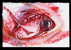 """""""Hamilton Fish"""" Series of works ... The Contemporary Fish Art of J. Vincent Scarpace: fish paintings, abstract art, original fine art."""