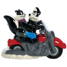 Pepe Le Pew & Penelope on Motorcycle