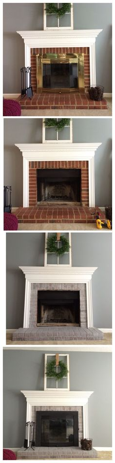 paint brass fireplace doors. One of the first things I wanted to change when we moved into our home was  fireplace have always thought as How Paint a Brick Fireplace Shelving Spray painting and Bricks