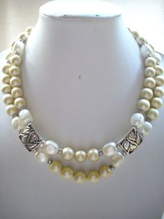 SALE Vintage Yellow Pearl Beads and Vintage by DesignsbyPattiLynn, $50.00