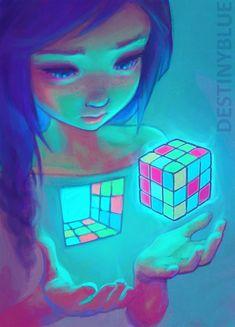 Destiny Blue, la artista que convierte la depresión en ilustraciones