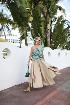 Atlantic-Pacific // Green Gingham in Miami