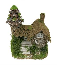 Fairy Garden Pinecone Roof House