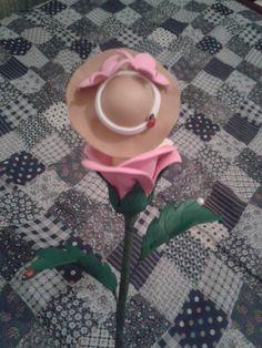 Boneca flor - Rosa (traz)