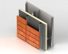 Metal cladding / COR-TEN® steel / textured / panel RECESS-FIXED CASSETTE Kingspan GmbH - Benchmark