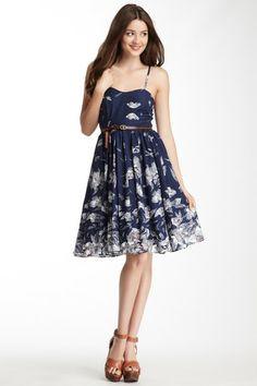 Sweetheart Neck Printed Dress
