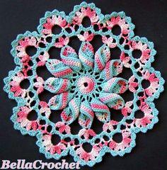 Pretty Pinwheel Doily: A Free Crochet Pattern Moss