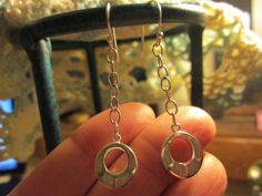 Handcrafted Designer Opal 925 Sterling Siver Dangle Earrings, French Wires Wt. 2.8g, 1 3/4 Inch Long