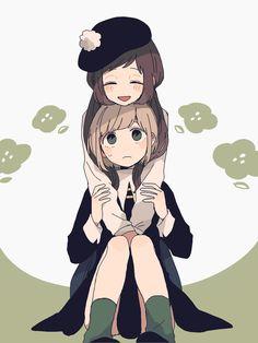Anime Chibi, Manga Anime, Anime Art, Pretty Anime Girl, Kawaii Anime Girl, Anime Friendship, Manga Poses, Chibi Girl, Anime Couples Manga