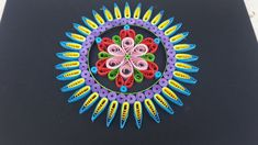 Paper Quilling | How to make beautiful Mandala designs by using Quilling...