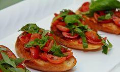 wedding buffet food - Tomato Bruschetta