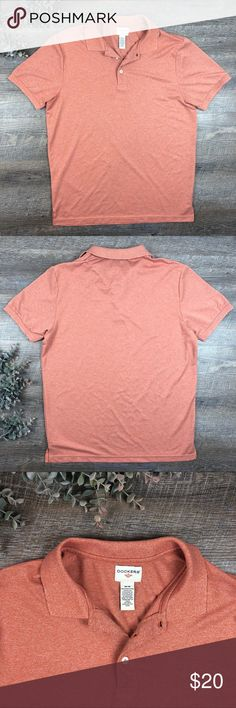 Dockers Orange Polo Shirt Top Great orange Dockers polo! In excellent condition. 100% polyester. Size M. (I-5. B) Dockers Shirts Polos