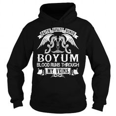 I Love BOYUM Blood - BOYUM Last Name, Surname T-Shirt Shirts & Tees