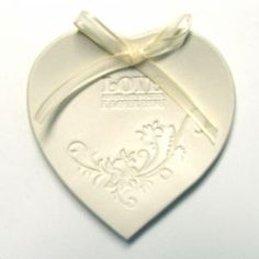 Heart Shaped Porcelain Engagement or Wedding Ring Bowl, Hand Built, Love, Always and Forever
