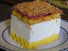 Domowe ciasta i obiady: Ciasto Wenus Vanilla Cake, Sweet Tooth, Sweet Treats, Recipies, Cheesecake, Food And Drink, Baking, Blog, Cakes