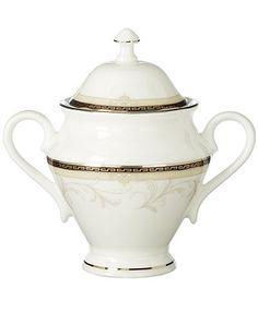Waterford Brocade Covered Sugar Bowl