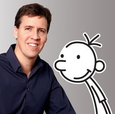 Jeff Kinney- Author of Diary Of A Wimpy Kid You are in the right place about Wimpy Kid printables He Wimpy Kid Movie, Wimpy Kid Series, Wimpy Kid Books, Kids Part, 5 Kids, Kids Book Series, Jeff Kinney, How To Teach Kids, Famous Books