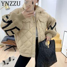 Korean Fashion Winter, Winter Fashion Outfits, Fall Winter Outfits, Cold Weather Outfits, Warm Outfits, Winter Jackets Women, Coats For Women, Leather Jacket Outfits, Knit Fashion
