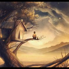 Remarkable came-from-dreams scenery illustrations by Niken Anindita