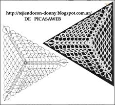 PATRONES=GANCHILLO = CROCHET = GRAFICOS =TRICOT = DOS AGUJAS: Points for crocheting, with very thin thread