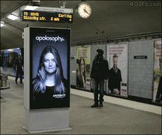 Train Interactive Billboard  defplanet.com