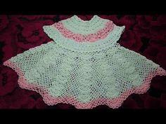 Платье крючком ажурное для девочки от 6 мес.Dress baby crochet
