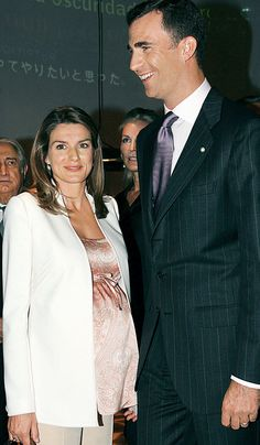 La princesa, embarazada de la infanta Leonor en 2005.