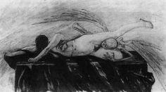 Felicien Rops ~ L'Agonie ou Mors et vita 1872 (private collection)