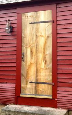 New cottage door -- here's what the planks looked like right after the door was installed
