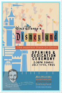Vintage Disney Collector's Poster 12x18 Disneyland Opening Ceremony 1955   eBay
