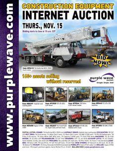 Construction Equipment Auction  November 15, 2012  http://purplewave.co/121115