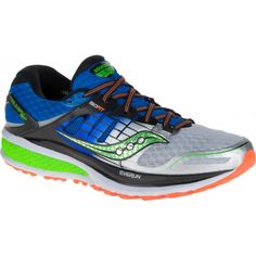 Saucony Blue Silver Citron Hurricane Iso 2 Train Sneakers Size US 6 Regular (M, B) 25% off retail