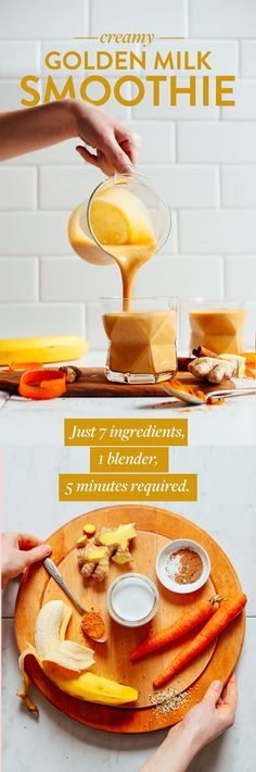 Creamy Vegan Golden Milk Smoothie   Minimalist Baker Recipes
