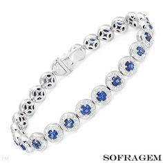 SOFRAGEM 7.46 CTW Sapphire 18K Gold Bracelet