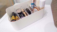 organizer pojemnik plastikowy przybornik na kosmetyki przyprawy łazienkowy Pepco z przegródkami
