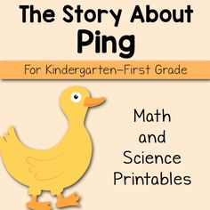 The Story About Ping Printables - Mamas Learning Corner The Story About Ping, Homeschool Kindergarten, Homeschooling, Preschool, Five In A Row, Teacher Signs, Toddler Books, First Grade Math, Writing Practice