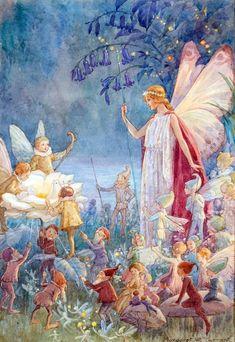 Margaret Tarrant - Faeries and Little Folk Vintage Fairies, Fairytale Art, Fairytale Drawings, Architecture Tattoo, Beautiful Fairies, Flower Fairies, Fairy Art, Children's Book Illustration, Faeries