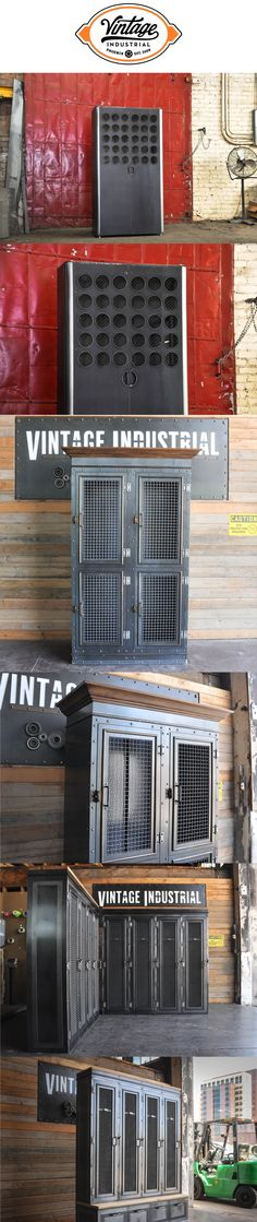 Storage ideas built by Vintage Industrial Furniture in Phoenix. We build armoires, mudroom lockers, and cabinets to order and can tailor them to suit your needs!