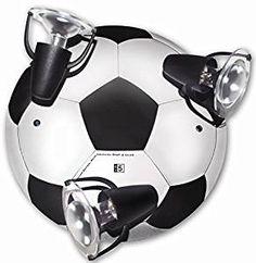 ⚽ Die passende Beleuchtung für ein Fußballzimmer: Deckenleuchte mit 3 Strahlern. ⚽