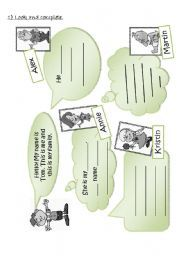 English Worksheets: My Family 1/2