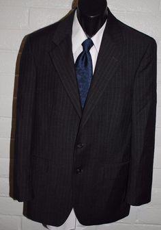 Ralph Lauren Mens Blazer 38 Reg Gray 2 Button Wool Notched Lapel No Vent #RalphLauren #TwoButton