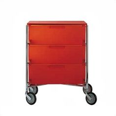 Kartell Mobil Storage Containers with Wheels I love wheels! Versatility!