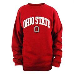 Ohio State Buckeyes Genuine Stuff Men's Scarlet Crewneck Sweatshirt Ohio State Gear, Ohio State University, Ohio State Buckeyes, Crew Neck Sweatshirt, Graphic Sweatshirt, Scarlet, Sweatshirts, Clothes, Shopping