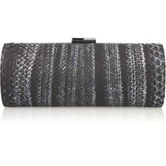 Jimmy Choo Tube metallic python clutch (55.570 RUB) ❤ liked on Polyvore  featuring bags f2d43c2c44